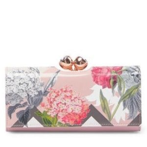 NWT TED BAKER WALLET Pink Palace Gardens Bobble